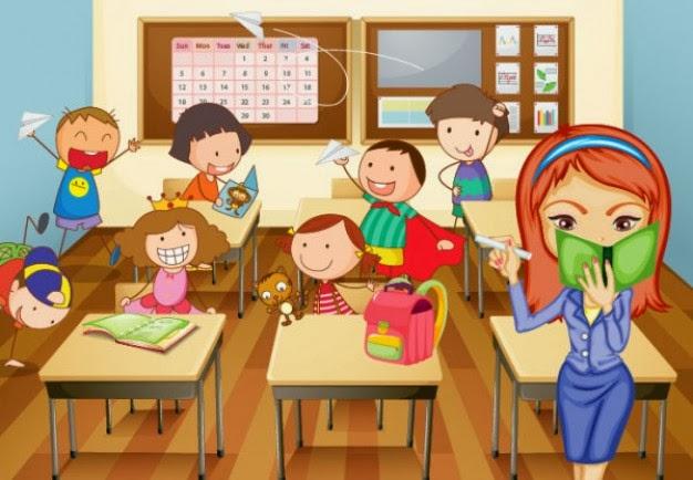 Clase de ni os dibujo imagui - Ninos en clase dibujo ...